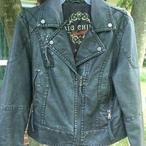 grey moto jacket 🕷